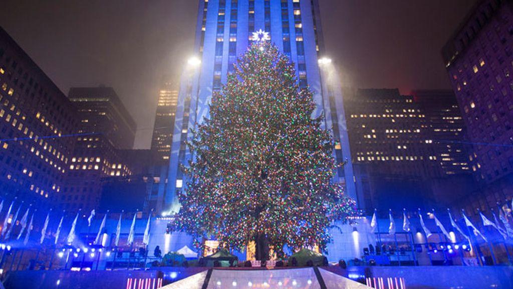 Árbol del Rockefeller Center en Nueva York (Estados Unidos)