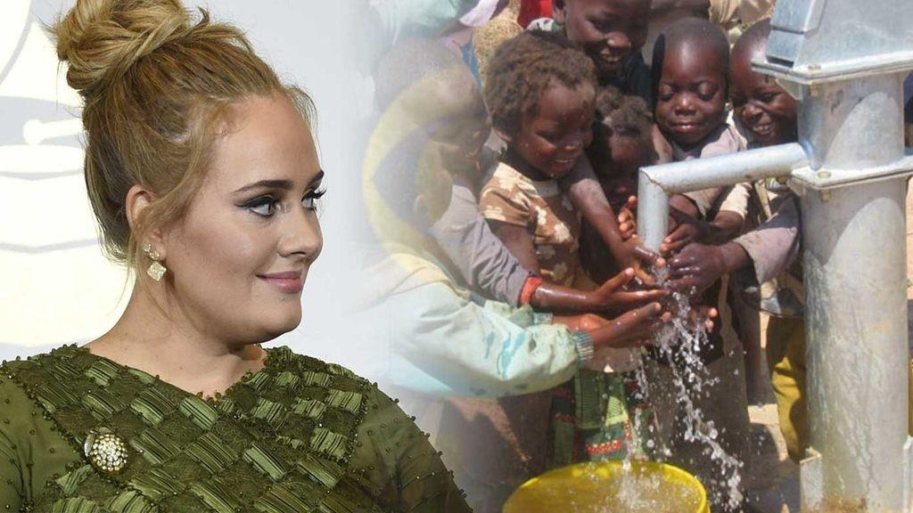 Adele, a favor del consumo y uso responsable del agua en todo el mundo