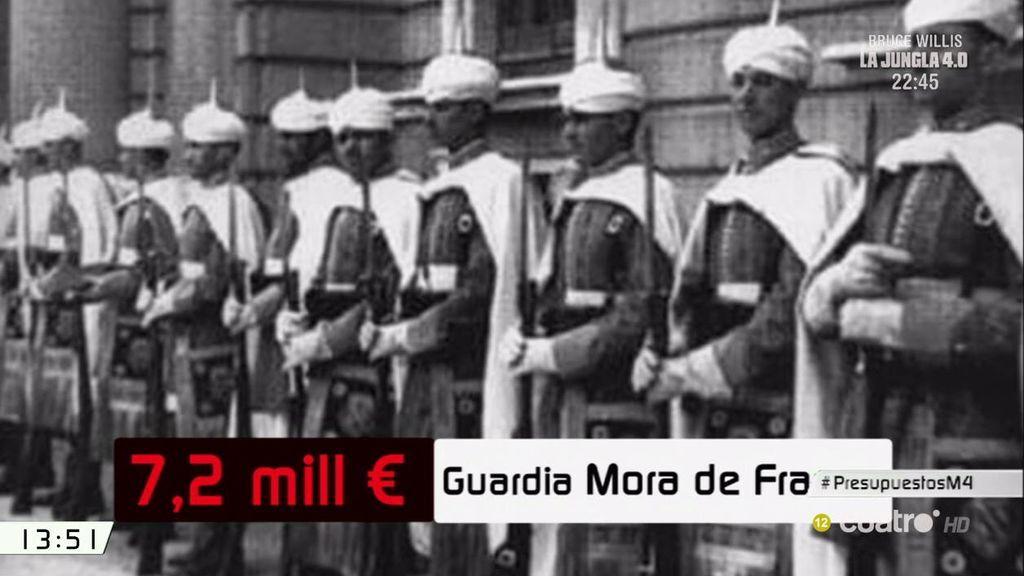 La letra pequeña de los Presupuestos: 7,2 millones para la Guardia Mora de Franco