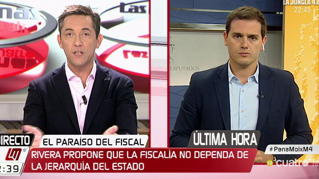 """Rivera: """"Vamos a traer una reforma de la Fiscalía para que los fiscales no sean del gobierno, sino de todos los españoles"""""""