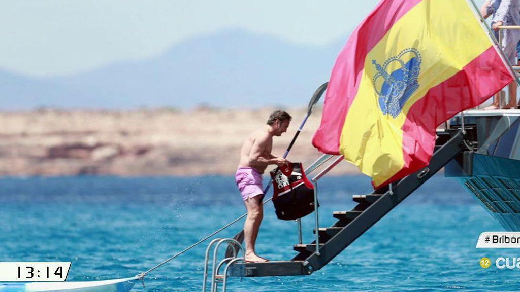 Las vacaciones en el mar de Josep Pujol en  un yate de 40 metros