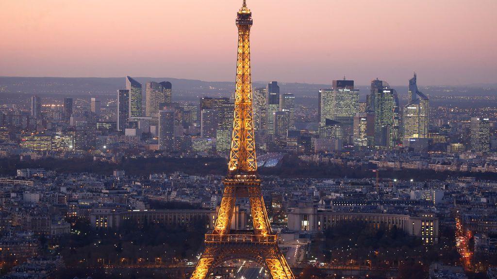 Vista general de la ciudad de París, Francia