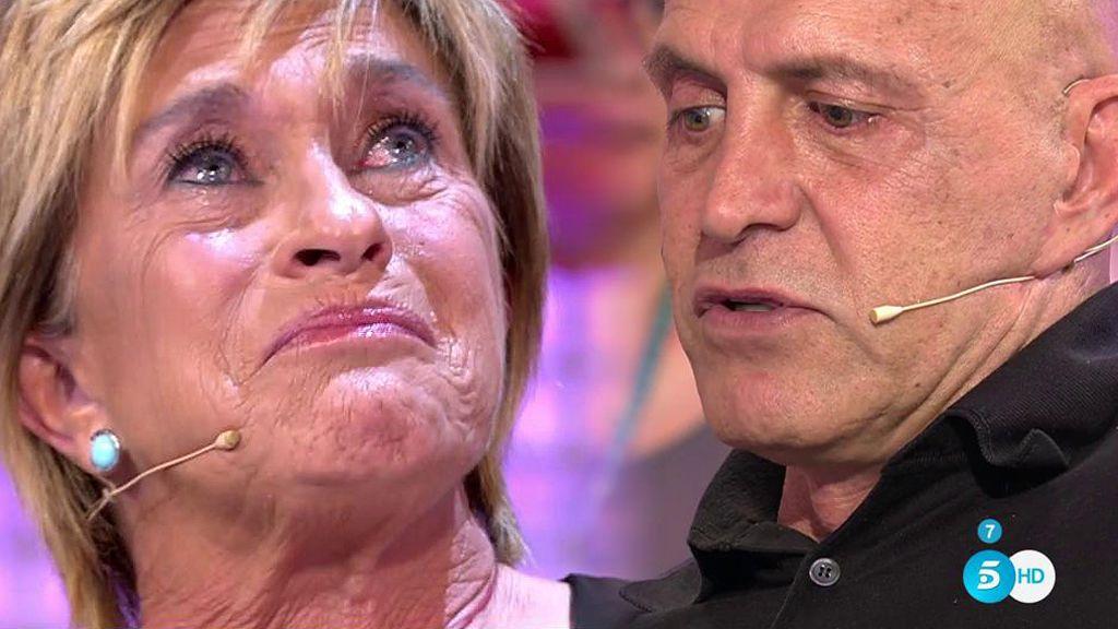 Chelo Gª Cortés recibe entre lágrimas las disculpas de Kiko Matamoros