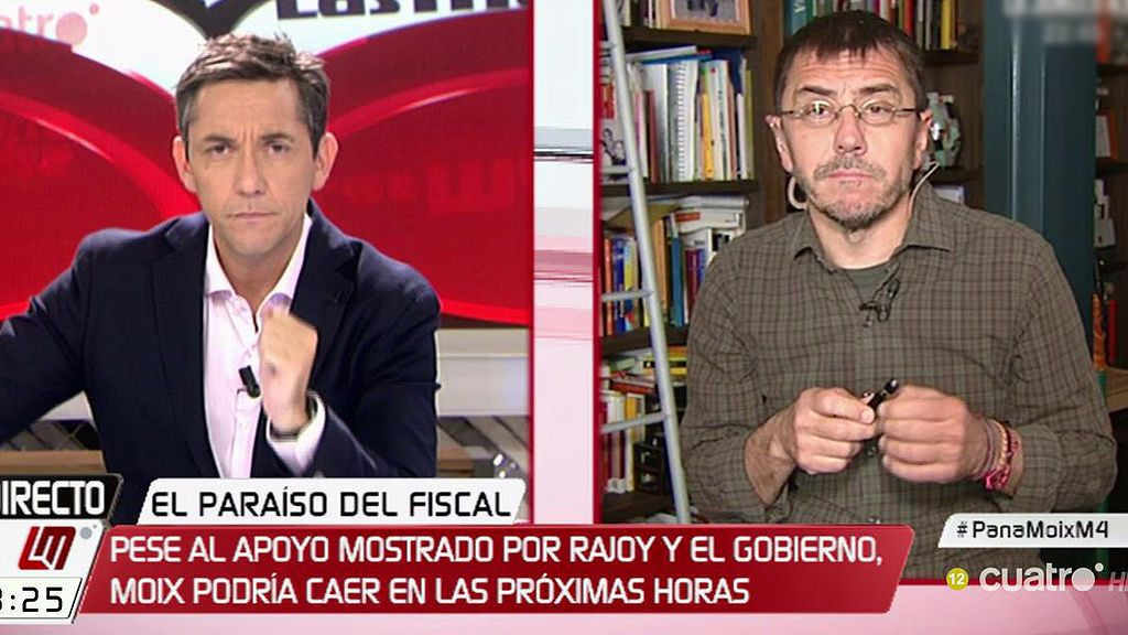 """Monedero: """"El PP me recuerda a Hitler en su búnker, desesperado"""""""