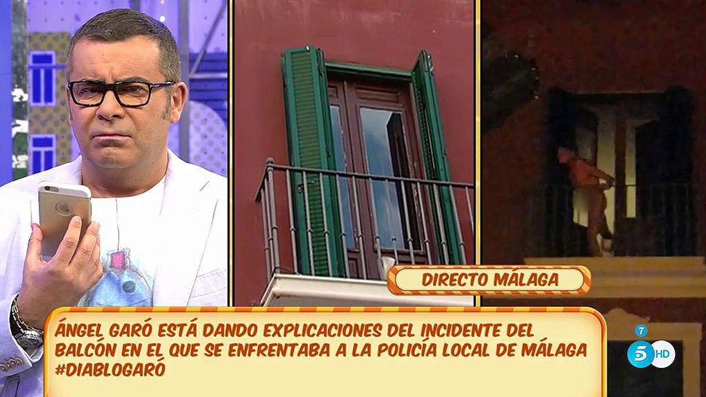 Ángel Garó niega las acusaciones, explica el incidente del balcón y pide respeto