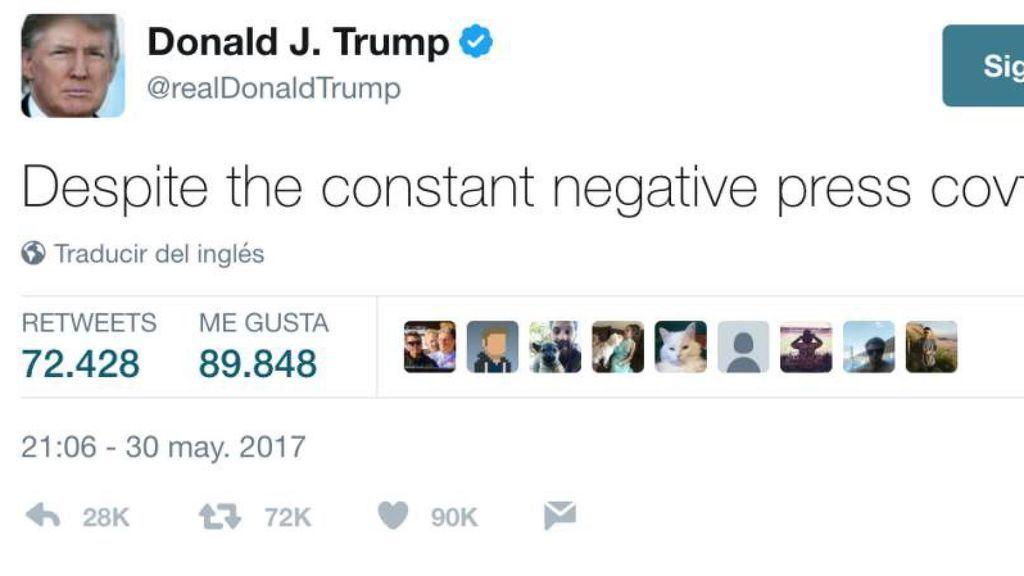 Donald Trump revoluciona twitter con un tuit incomprensible