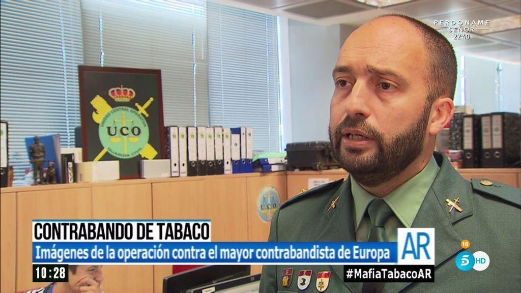 """Comandante de la UCO de la Guardía Civil: """"El contrabando de tabaco es un problema que va en aumento"""""""