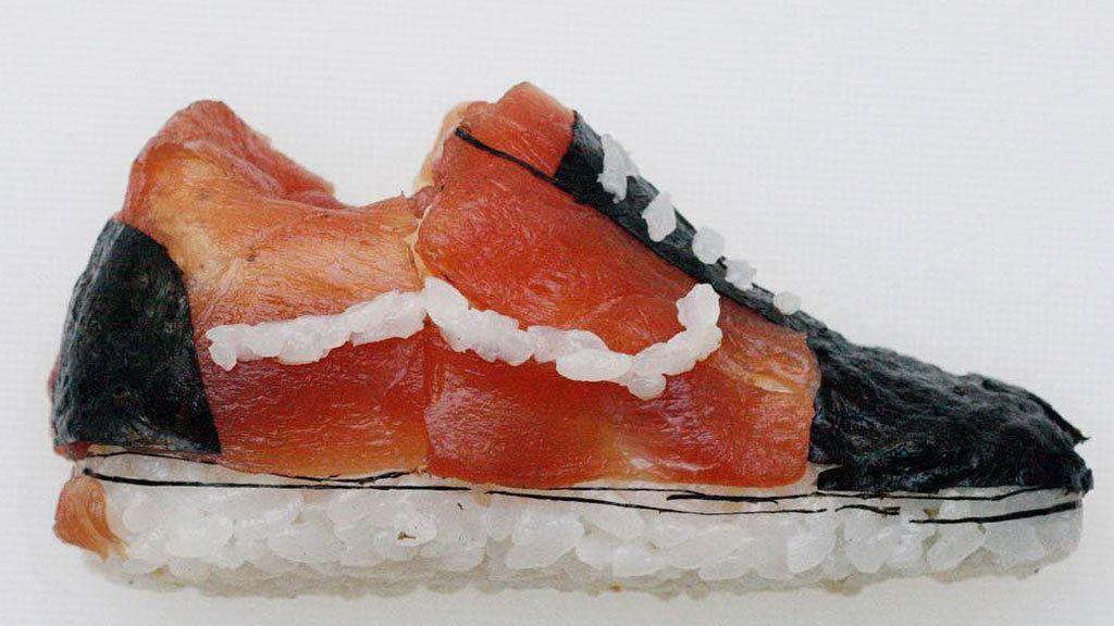 Los asombrosos zapatos de sushi