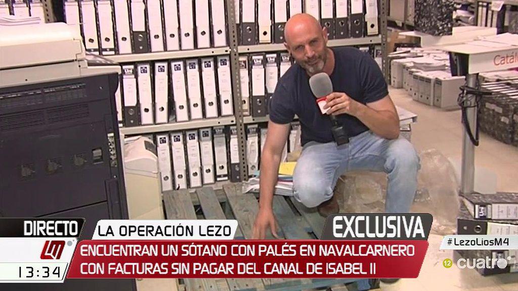 Encuentran en un sótano de Navalcarnero un palé con facturas sin pagar por valor de 1 millón de euros