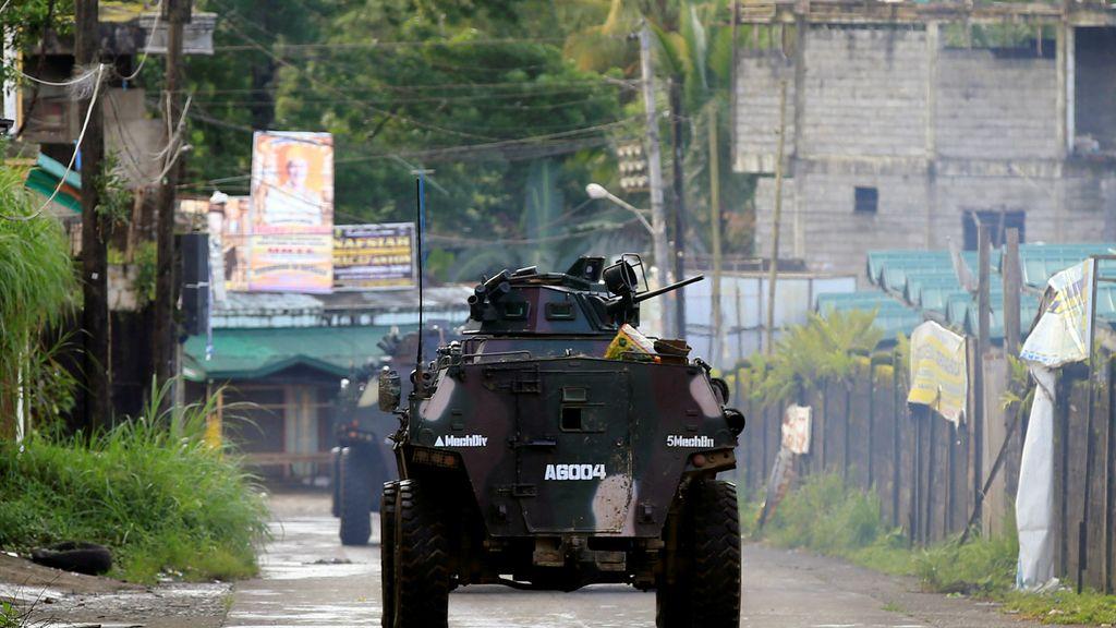 Operación militar con militantes islámicos  en la ciudad filipina de Marawimi