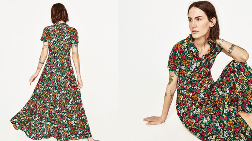 Vestido largo flores zara zagreb