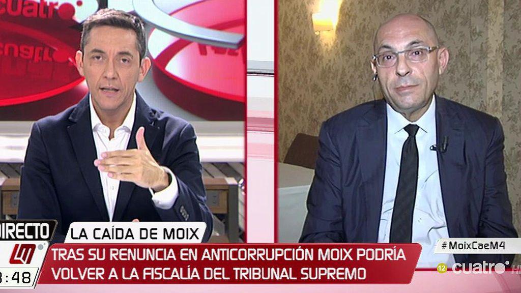 """Silva, tras la renuncia de Moix: """"Poco a poco se descubre la trama de este régimen político"""""""