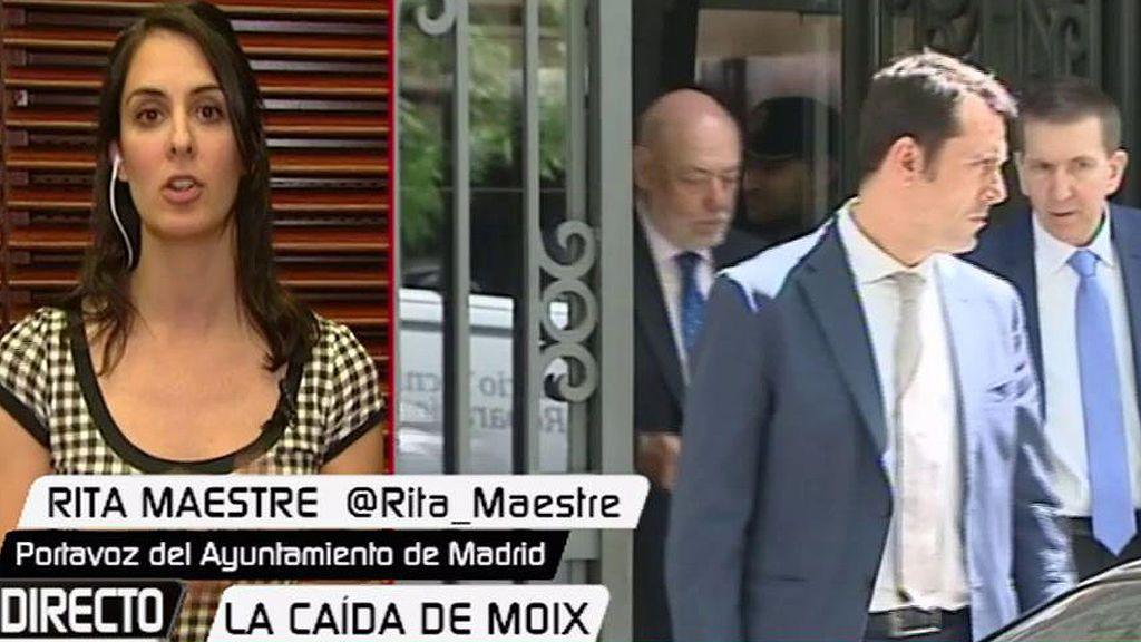 """Maestre: """"No solo Moix, también Maza y el ministro de Justicia tienen que dimitir"""""""