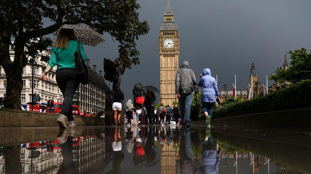 Jornadas de lluvias en Londres