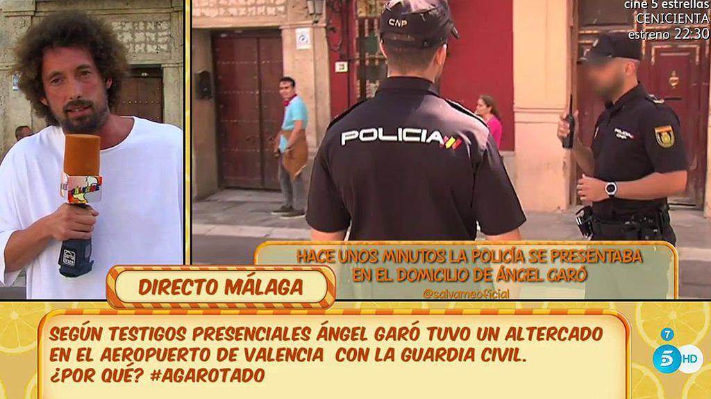 Ángel Garó ha llamado a la policía ante la presencia de prensa en su casa, según J.A. León
