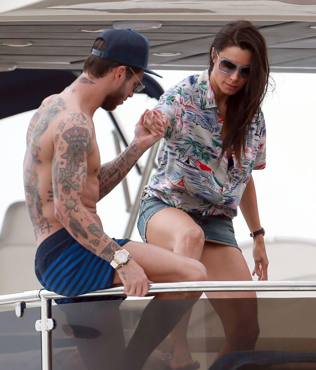 Pilar Rubio y Sergio Ramos ibiceando con la cuchipandi