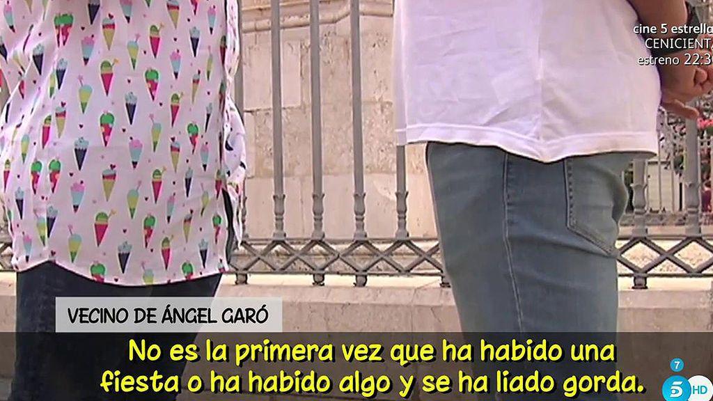 """Un vecino de Ángel Garó afirma: """"Se cree superior a la autoridad y a todo el mundo"""""""
