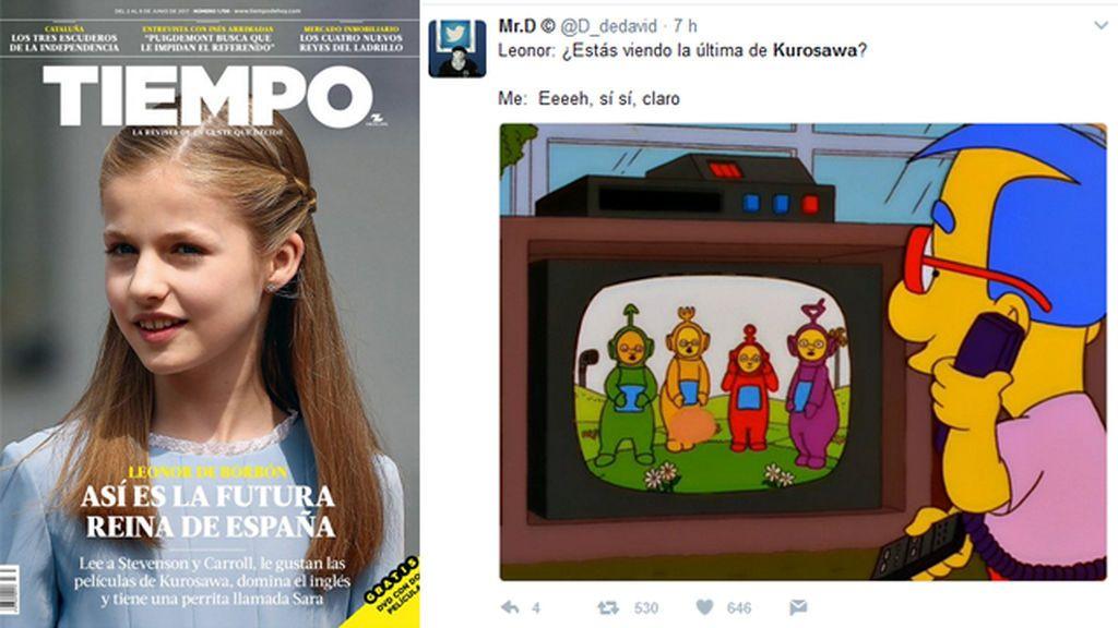 A la princesa Leonor le gusta Kurosawa... y Twitter lo convierte en tendencia