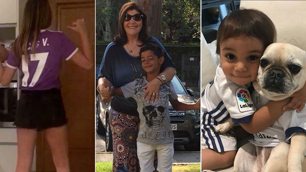 Hijos, madre, WAGs... Así apoya la 'family' del Madrid a los chicos de Cardiff