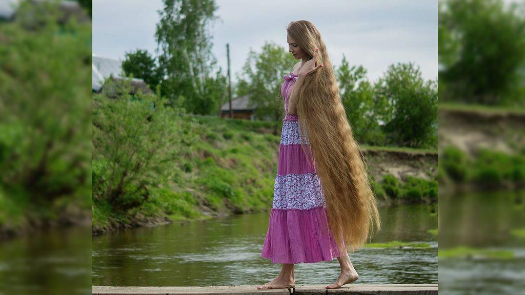 El cabello más largo de Instagram pertenece a la 'Rapunzel' rusa
