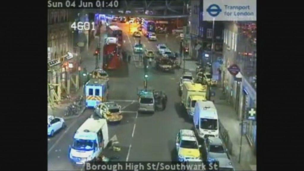 Momentos posteriores al ataque en el Mercado de Borough de Londres
