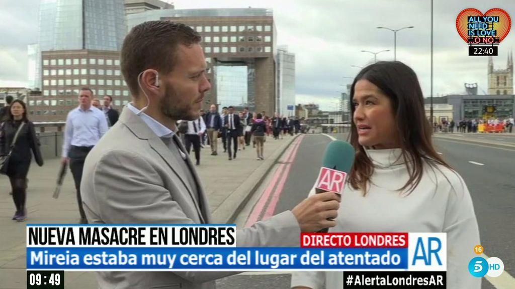 """Mireia: """"Ibamos viendo las calles cortadas, la gente presa del pánico y se oían disparos de la policía"""""""