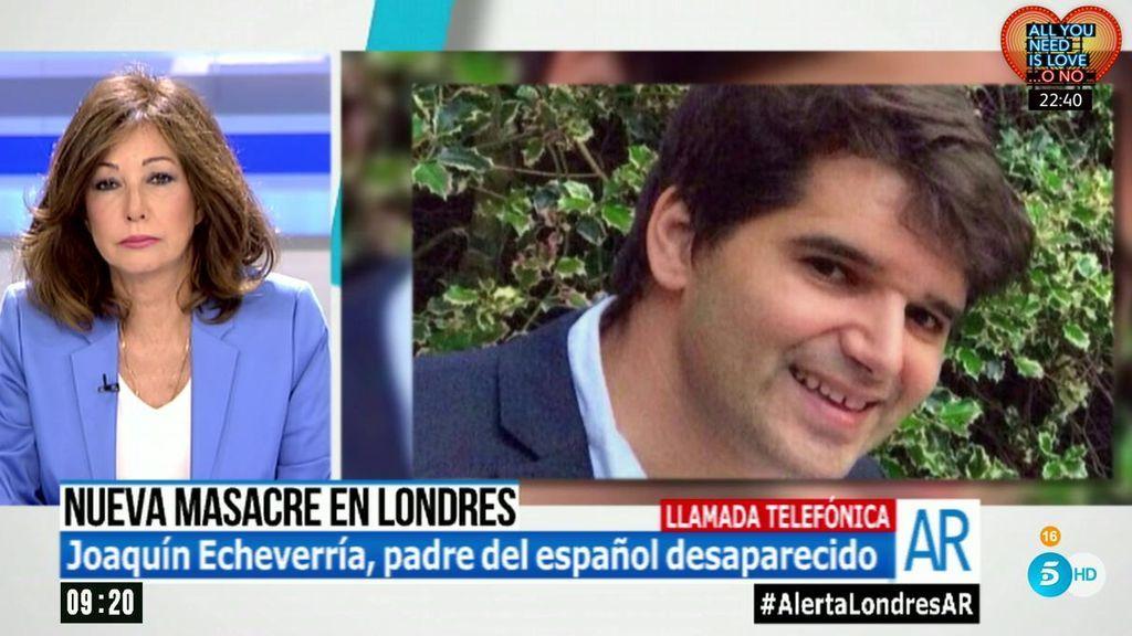 """Joaquín, padre del español desaparecido: """"Recorrer los hospitales es estéril, están acordonados"""""""