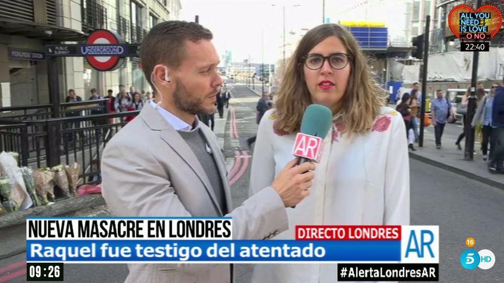 """Raquel, testigo del atentado en Londres: """"Buscaban a la gente que se había caído o se tiraba al río"""""""