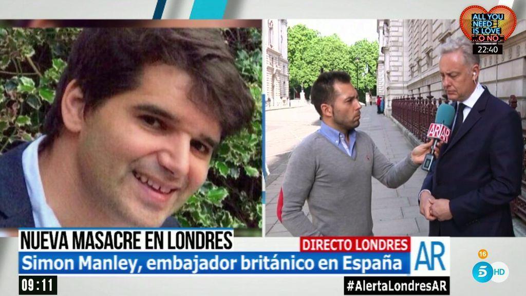"""Embajador británico en España, Simon Manley: """"Estamos intentando identificar a todas las víctimas"""""""