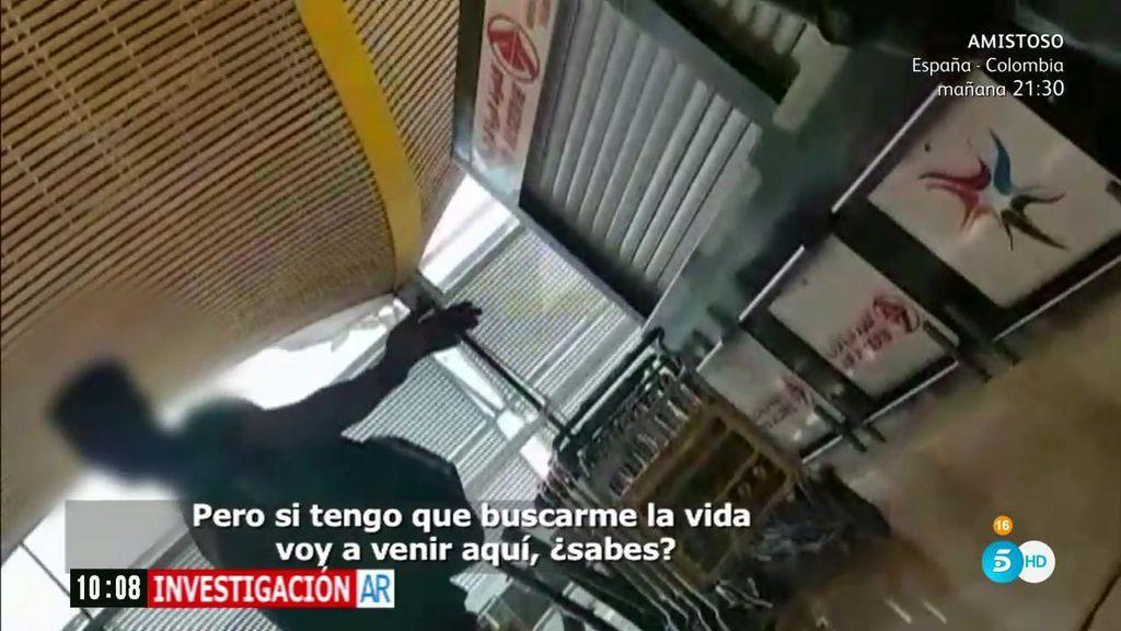 """'Plastificador' ilegal en el aeropuerto: """"Si tengo que buscarme la vida voy a venir aquí"""""""