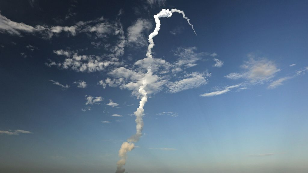 Lanzamiento de un satélite en India