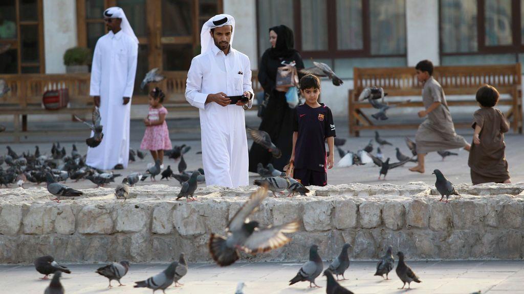 El mercado Souq Waqif en Doha, Qatar