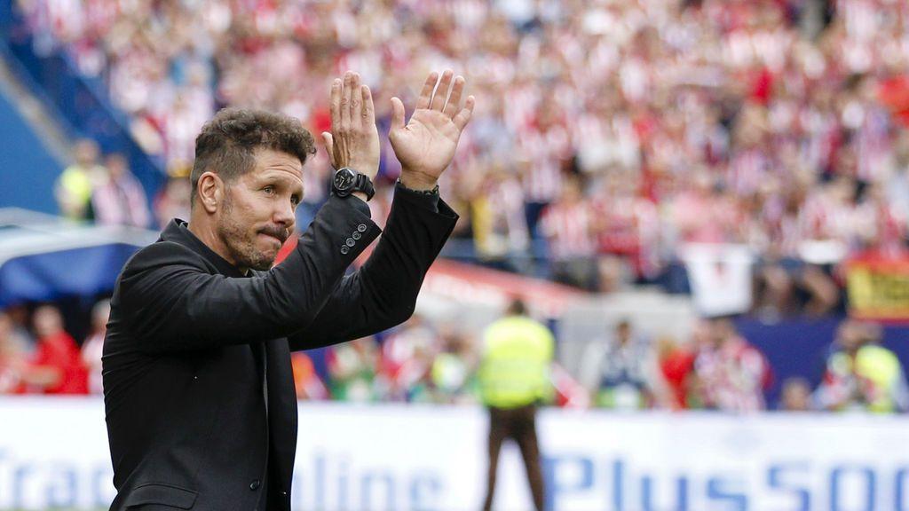 La emoción de Simeone tras ver el reencuentro entre Saúl y Diego Costa