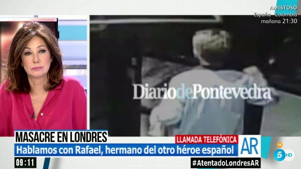 """Rafael Fariña, hermano del héroe español del bar de Londres: """"Aguantó bien el tipo y tuvo mucha suerte"""""""