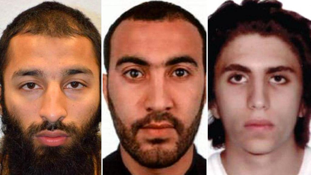 Khuram Shazad Butt, Rachid Redouane y Youssef Zaghba, los tres terroristas de Londres