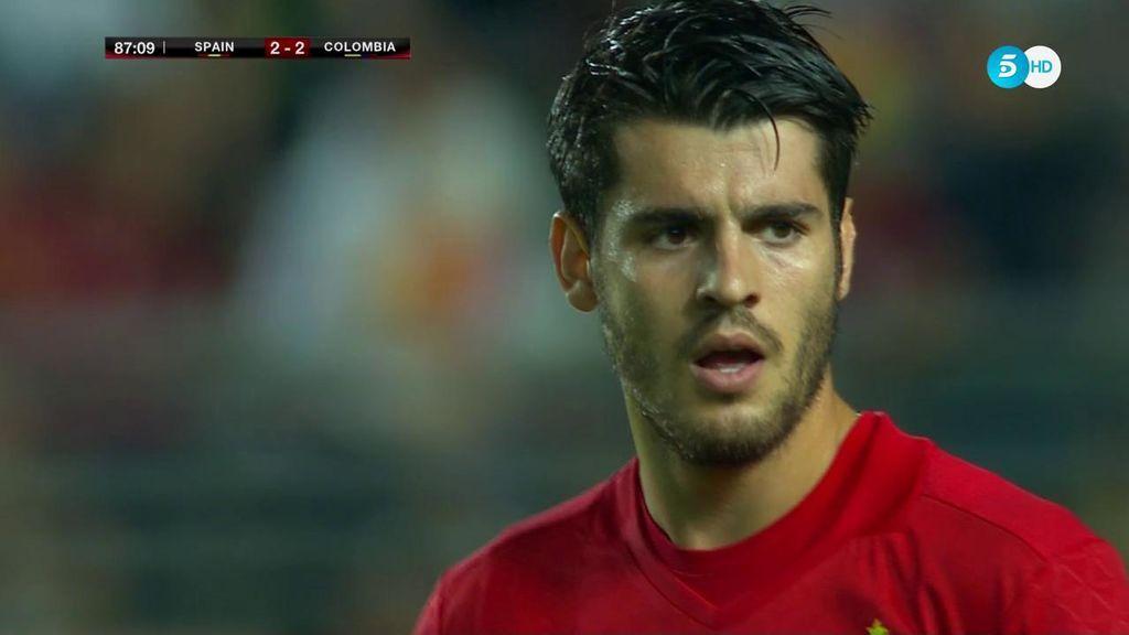 ¡Siempre Morata! Saúl la pone en el primer palo y el delantero marca un golazo de cabeza