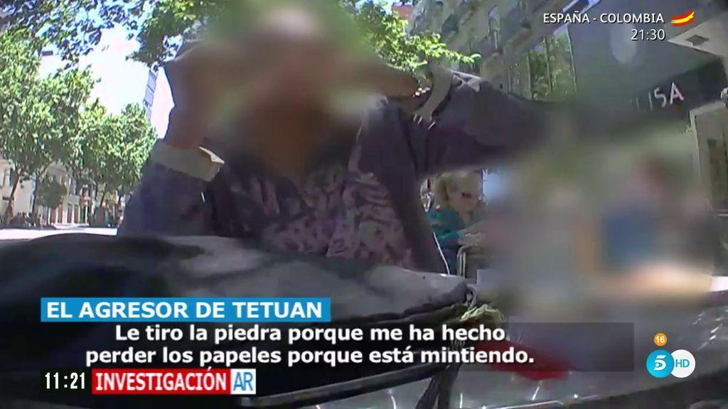 """Hablamos con el agresor de Tetuán: """"Agredí al reportero porque estaban mintiendo"""""""