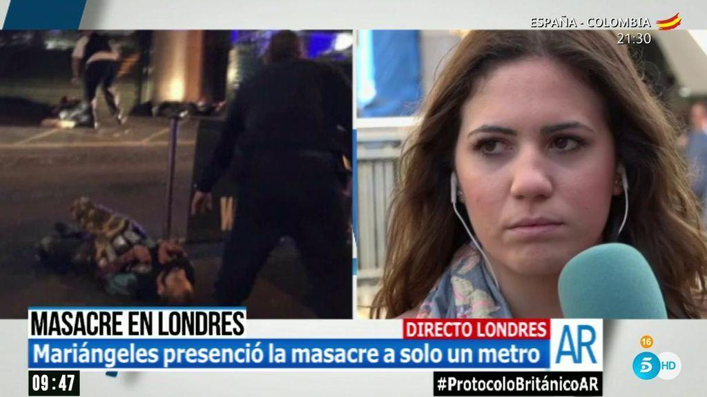 """Mariángeles presenció la masacre de Londres: """"Estoy fatal, es súper duro"""""""