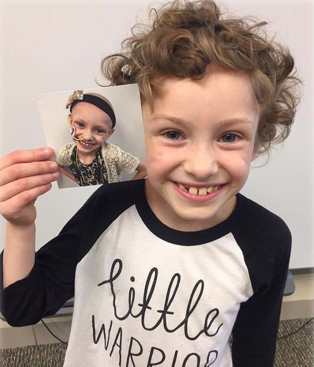 La emotiva celebración de una niña que venció al cáncer