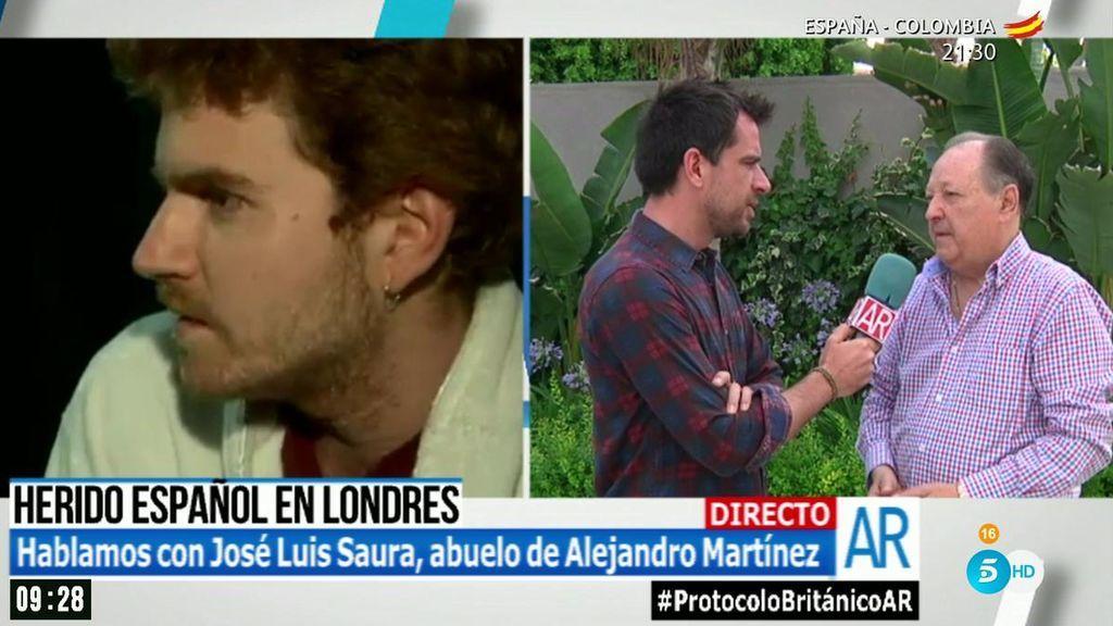 """Jose Luis Saura, abuelo del español herido en Londres: """"a los pocos minutos me llamó, me dijo que estaba escondido"""""""