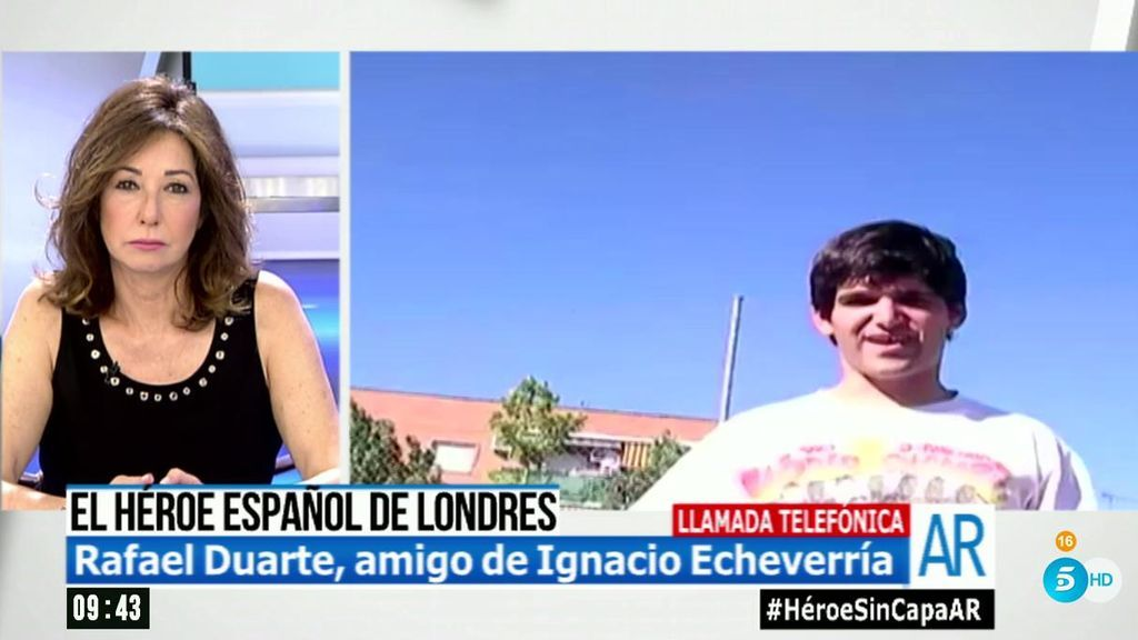 "Rafael Duarte, amigo de Ignacio Echeverría: ""La familia va a poder verlo hoy, pero a través de un cristal"""