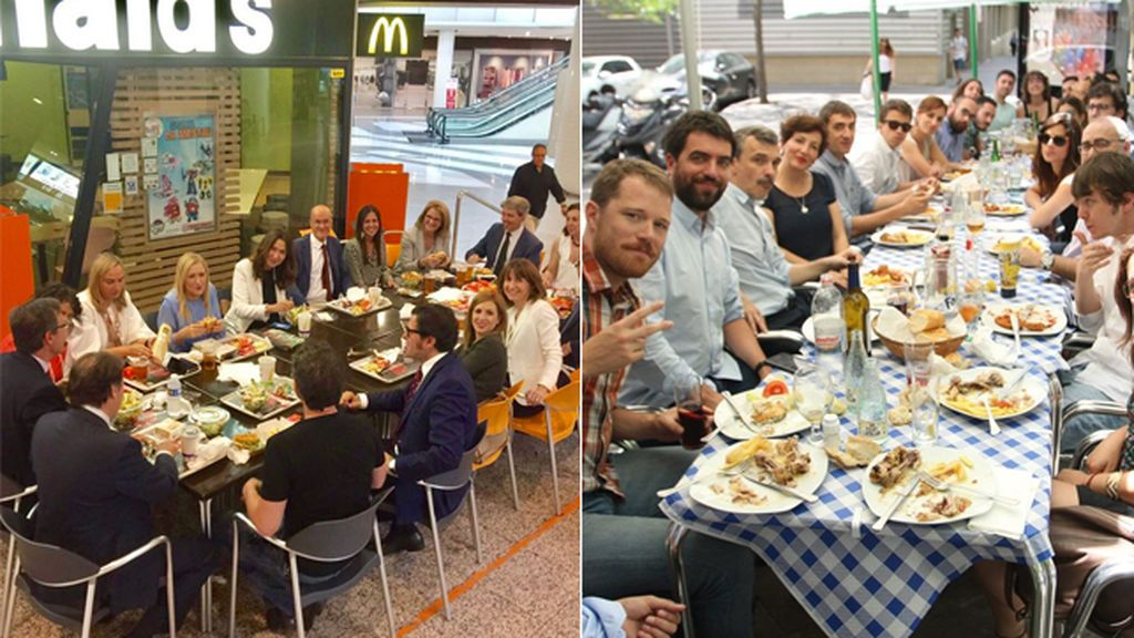 Duelo de restaurantes entre Cristina Cifuentes e Íñigo Errejón