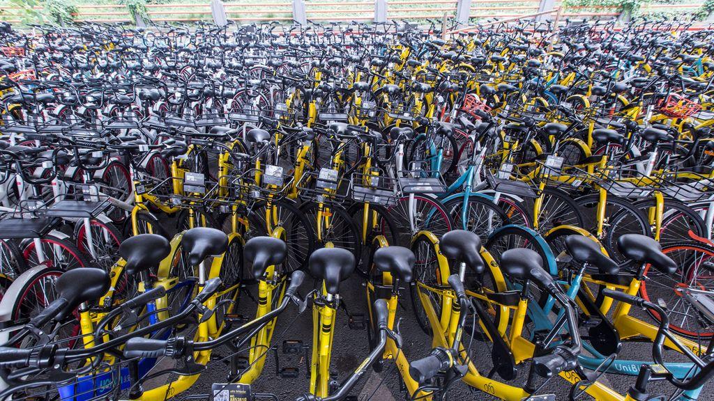Aparcamiento de bicicletas en China