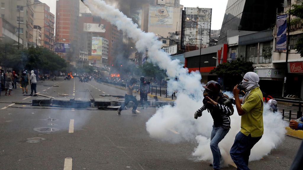 Los enfrentamientos en Venezuela