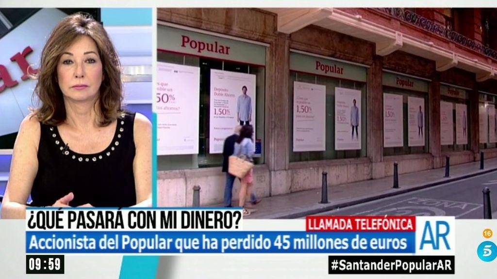 """Félix Revuelta ha perdido 45 millones en el Popular: """"Yo no me pongo nervioso, pero me preocupan los ahorradores"""""""
