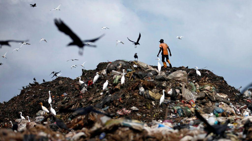 Vertedero de basura en Colombo, Sri Lanka