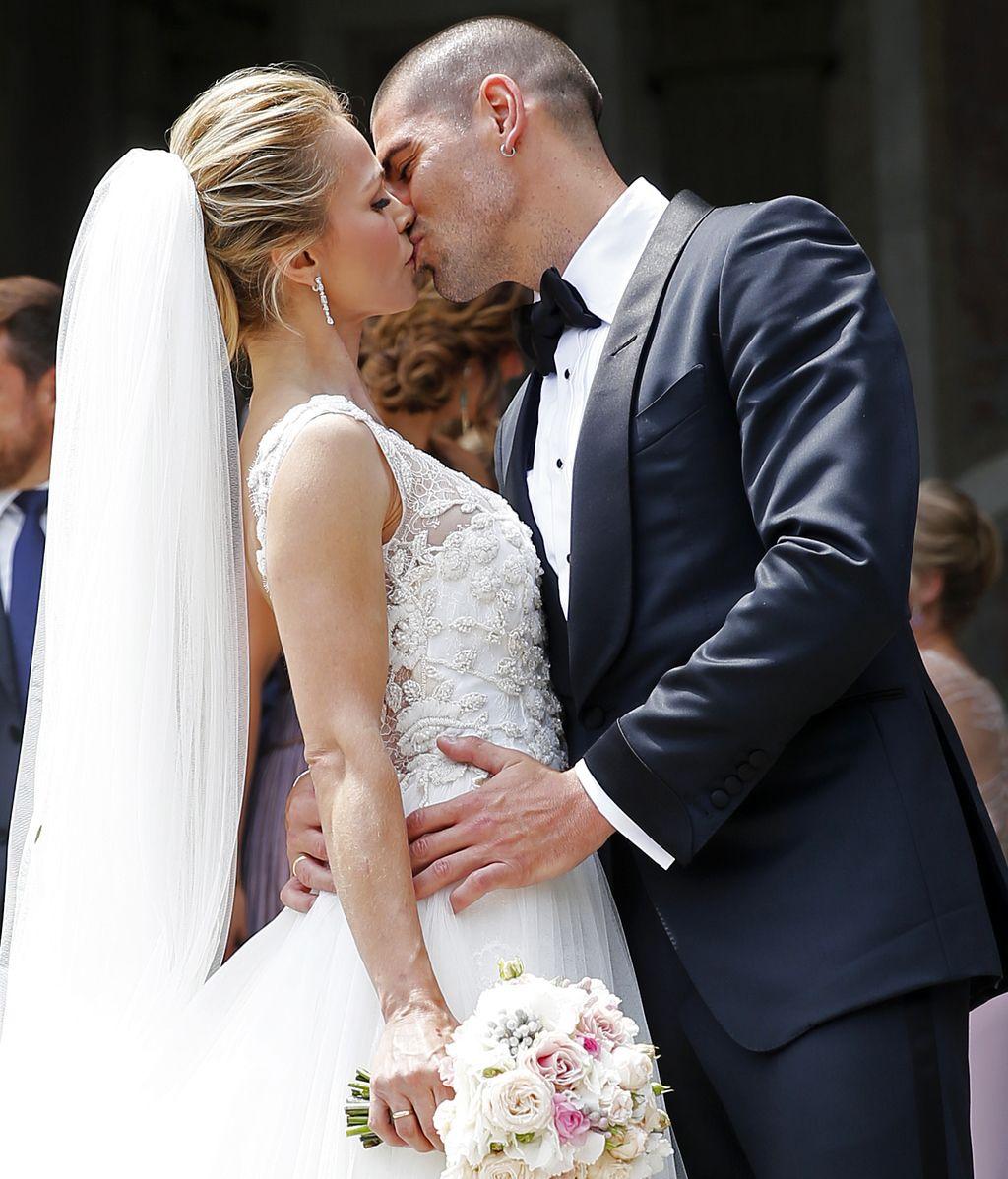 Vanesa Lorenzo, Puyol o Xavi: la boda blaugrana de Víctor Valdés y Yolanda Cardona