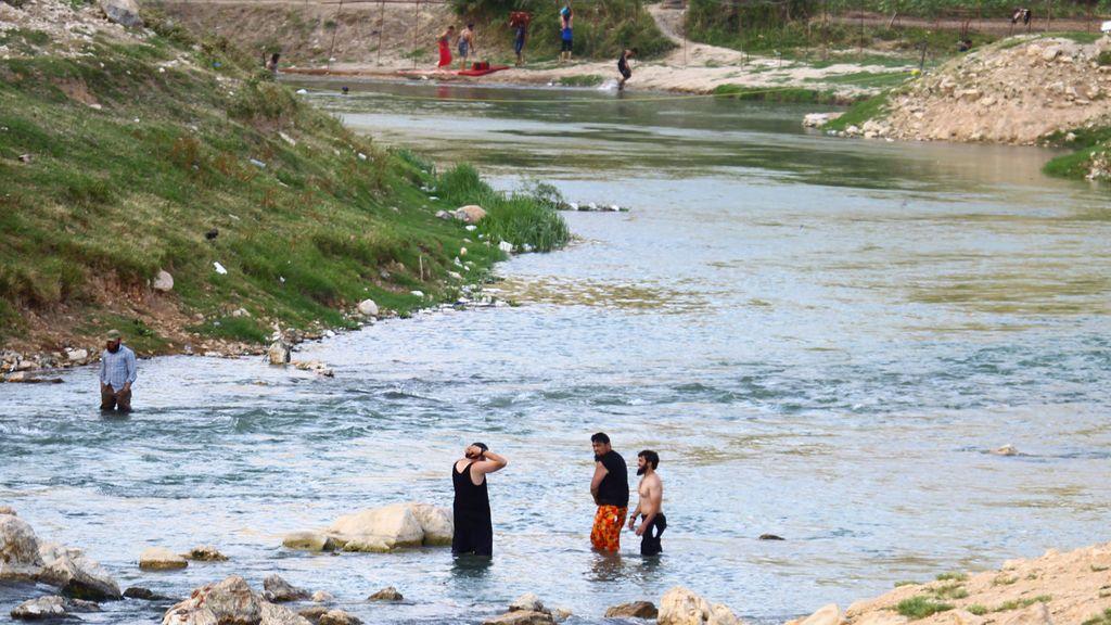 Río al-Assi en la ciudad de Darkush, Siria