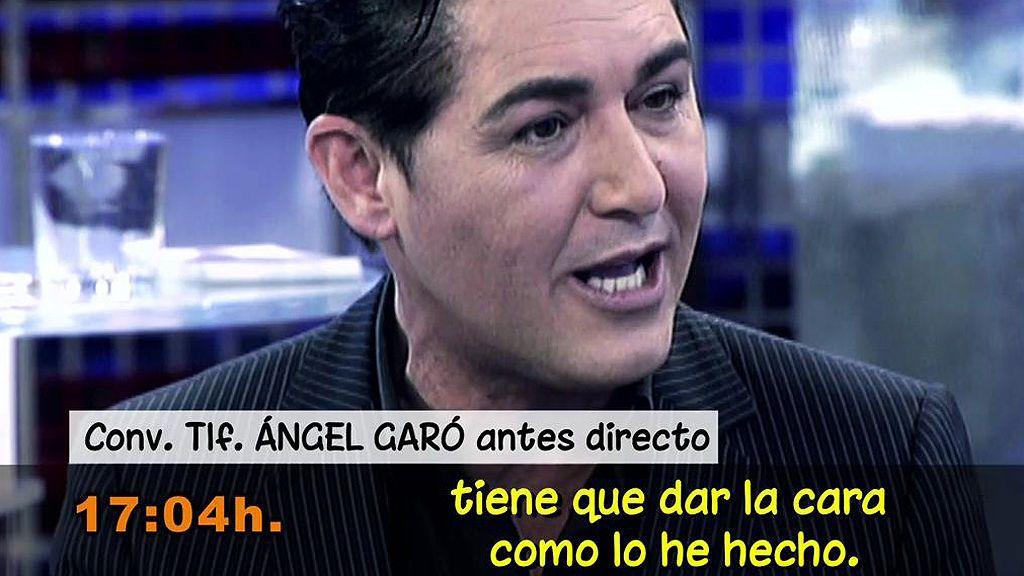 """Ángel Garó, muy enfadado: """"Quiero que me paguen este dolor"""""""