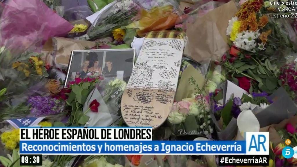 Un monopatín recuerda al héroe español en el santuario por las víctimas de Londres